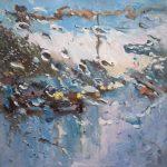 Melda Wibawa 'Rain on me (4)', Olieverf, 60 x 60, 2018
