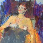 Melda Wibawa, 'Live-model', pastelkrijt op papier, 50x65, 2018