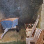 Anja van Asselt, 'Opzet Franse schuur', 60 x70, olieverf op paneel, 2018