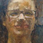 Aukje Tiesinga, 'Portret', 24 x 30, olieverf, 2018