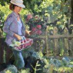 Sjoukje Hoogland, 'In de tuin', olieverf op paneel, 49 x 40, 2018