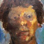 Sjoukje Hoogland, 'Portret 11-18', olieverf op paneel, 35 x 25, 2018