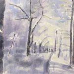 Lucy Vreeswijk, Winterlandschap, 40 x 60, olieverf op doek, 2018