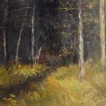 Klaas Klazema, 'Bosrand-Veenhuizen', olieverf, 60 x 80, 2018