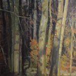Klaas Klazema, 'Ketliker Skar 3', olieverf, 150 x 94, 2019