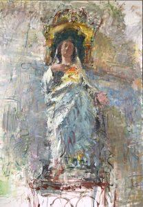 889. Peter B. van Houten, 'Uit de serie heiligen 3', 200 x 140, olieverf, 2019