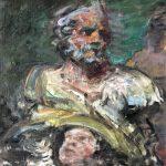 Peter B. van Houten, Uit de serie heiligen 9, olieverf, 80 x 60, 2019