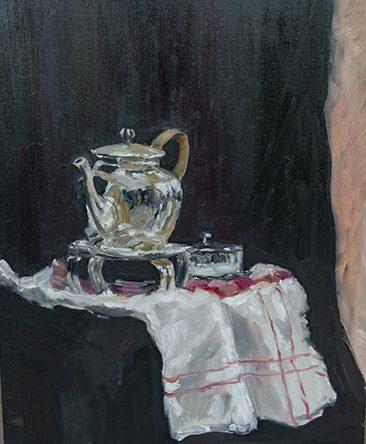 Eveline van Veen. Masterclass Cees Booij, koper, zilver en glas schilderen.