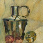 Ingrid Struijs. Masterclass Cees Booij, koper, zilver en glas schilderen.