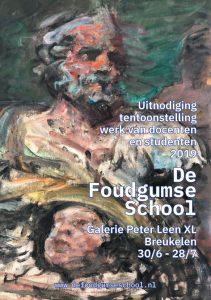 Uitnodiging tentoonstelling De Foudgumse School in Galerie Peter Leen XL 2019