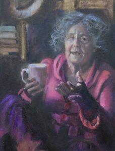 Angelien Coco Martin, 'Elisabeth vertelt', 80x50, olieverf, 2019
