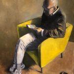 Lucy Vreeswijk, 'Mijn broer' olie op paneel, 80 x 100, 2019