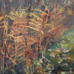 Bernardien Roze, 'Novemberriet', 80 x 60, olieverf, 2020