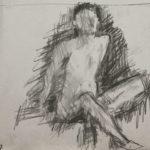 Elly Bolsius, Model Casper snelle schetsen 1