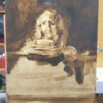 Bernardien Roze, 'studie Titus van Rembrandt', 2020
