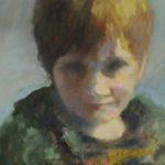 Afke Feddema, portret studie, olieverf op doek, 40x50, 2019