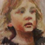 Afke Feddema, portret studie, olieverf op paneel, 30x40, 2019