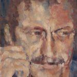 Arjen van der Schaaf, Durk, olieverf op plaat, 30 x 24, 2020