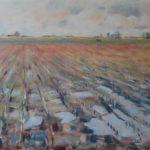 Arjen van der Schaaf, Einde oogst, olieverf op plaat, 53 x 67, 2020