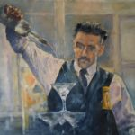 Arjen van der Schaaf, olieverf op doek, 75 x 80, 2020