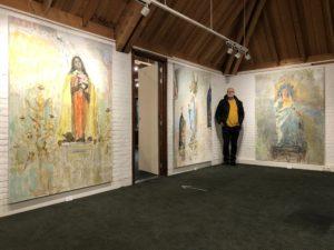 De tentoonstelling 'Heiligen in beweging' in Museum Vledder te Vledder. Recent werk van Peter B. van Houten, docent en artistiek directeur De Foudgumse School