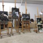Masterclass Cees Booij 'Zilver schilderen'.