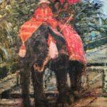 Ella Detmar, Cambodja, olieverf, 100 x 80, 2020