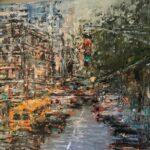 Ella Detmar, New York 1, olieverf, 25 x 25, 2021