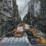 Ella Detmar, New York 3, olieverf, 28 x 28, 2020