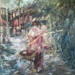 Ella Detmar, Laos, olieverf, 50 x 50, 2020