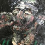 Nynke Landman, olieverf, 20 x 20, 2020